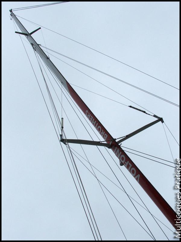 Comment s'appelle l'espar située au dessus des haubans qui est complémentaire aux barres de flèche pour tenir le haut d'un mat